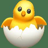 Эмодзи 🐣 Цыпленок в яйце