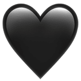 Картинки по запросу черноесердечко эмодзи